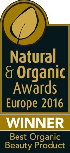 Winner EUROPE 2016 Best Organic Beauty Product, at the Natural and Organic Europe Awards